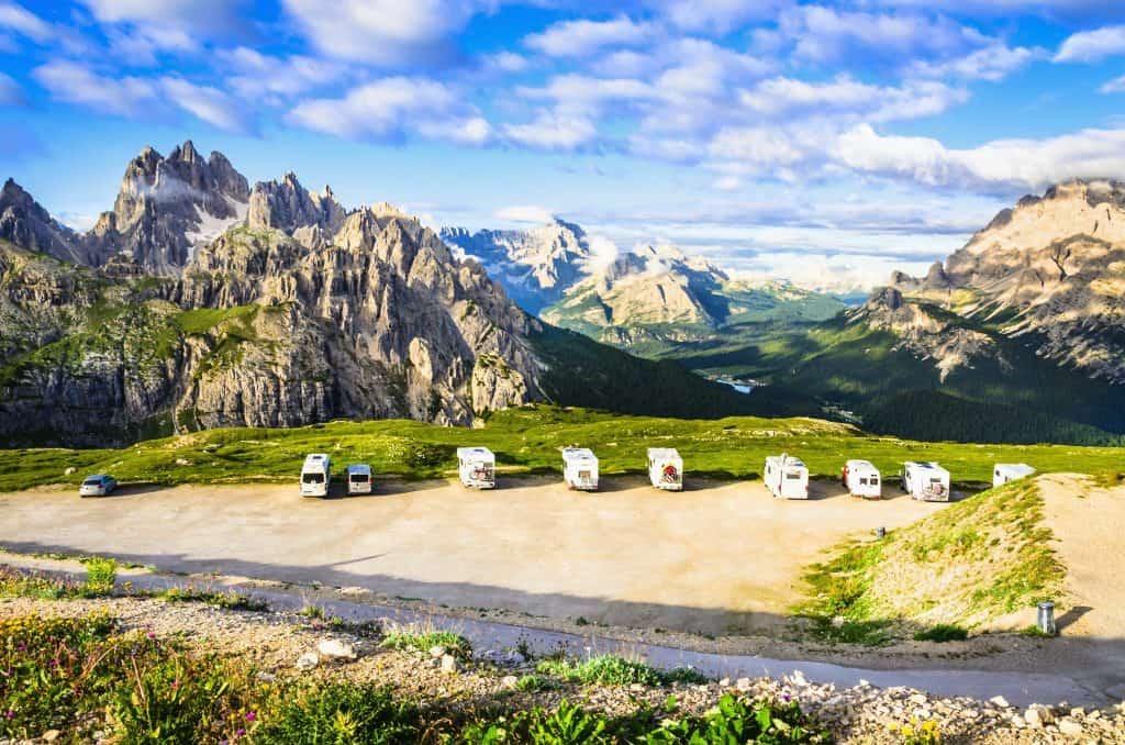 Met de camper in de bergen